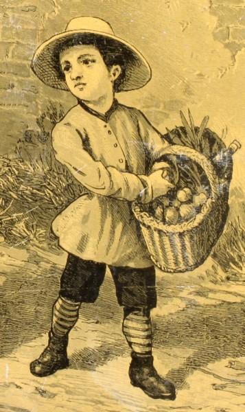 Jean est serviable panneau didactique moralisateur, vers 1898. (détail)