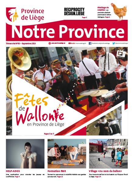 Notre Province n°83 - Septembre 2018