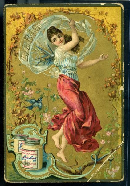 Carte publicitaire commanditée par la marque Liebig issues de la série