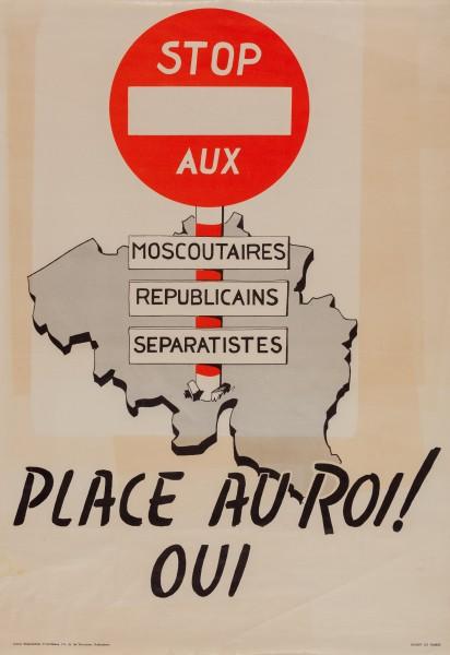Affiche léopoldiste, 1950