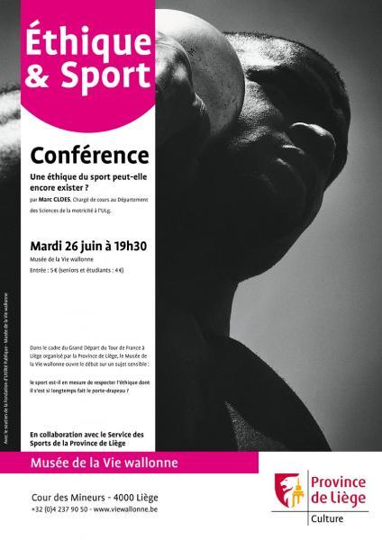 Affiche conférence éthique du sport