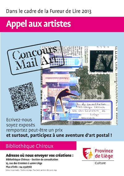Concours Mail Art à la bibliothèque Chiroux