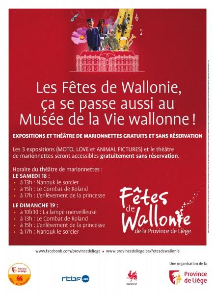 Les Fêtes de Wallonie 2021 au Musée de la Vie wallonne