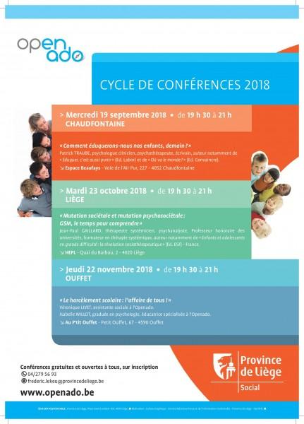 Cycle de conférences 2018