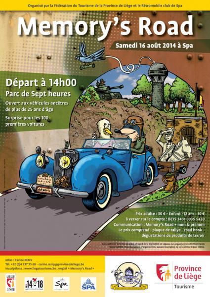 « Memory's road » balade touristique véhicules ancêtres