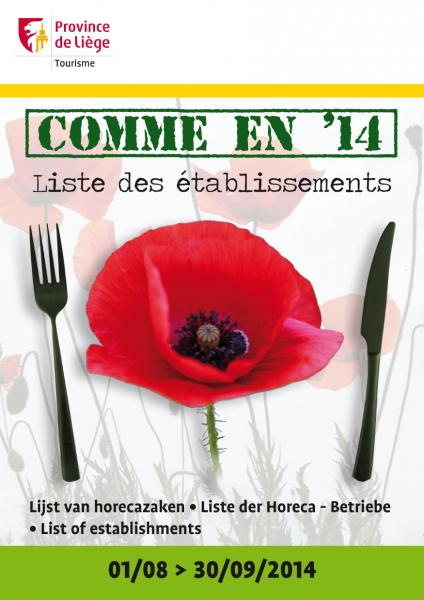 """Comme en 14"" restaurants cafés brasseries"