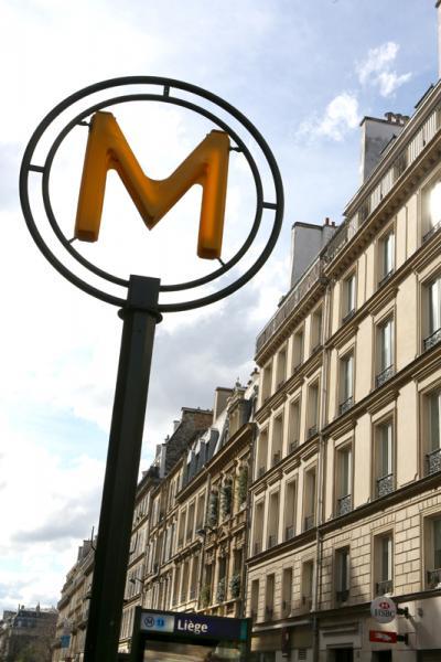 """Station de Métro """"Liège"""" à Paris"""