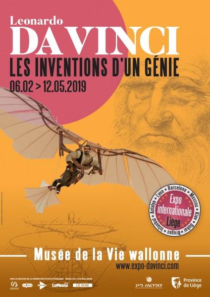 Leonardo da Vinci - Exhibition promotional poster