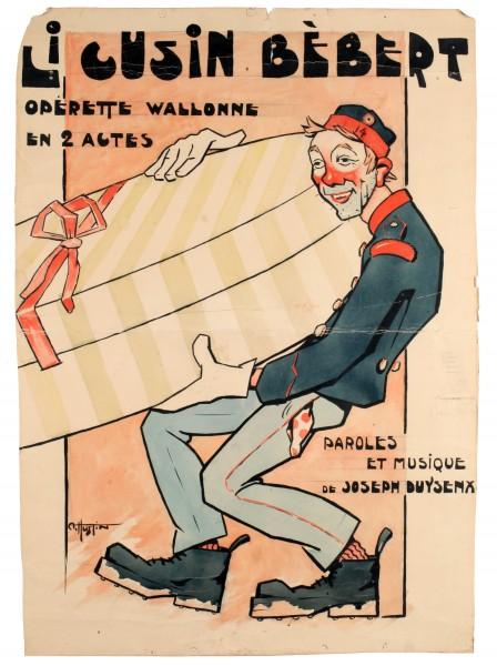 Li Cuzin Bébert de Joseph Duysenx - Affiche de spectacle